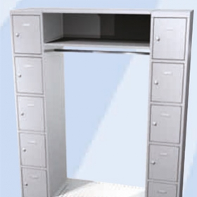 Garderoben offen für das Gewerbe